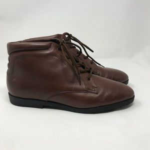 Vintage Ankle Boots 90s 7 Brown Leather Fall Boots